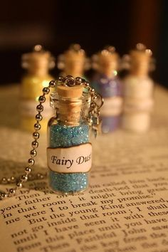 Glass Vial Necklace Fairy Dust by spacepearls on Etsy, $12.00
