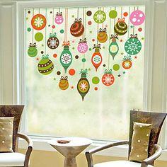 Christmas Window Sticker Contemporary , Art Deco 60m*60cm 4480242 2016 – $11.44
