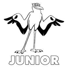 Leuk voor kids kleurplaat ~ Junior de ooievaar bezorgt pakjes voor cornerstone.com