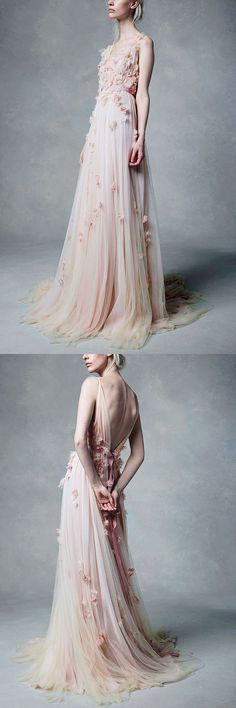 pear pink prom dress,lace prom dress,long prom dress,unique prom dress,cheap prom dress,A-line prom dress,custom made prom dress,2018 prom dress #demidress #promdress #prom2018