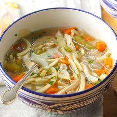 The Ultimate Chicken Noodle Soup Recipe -My first Wisconsin winter was so cold, all I wanted to eat was soup. This recipe is in heavy rotation from November to April and has some devoted fans.  —Gina Nistico, Milwaukee, Wisconsin