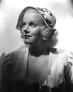 "Jean Harlow in a publicity still for her final film, ""Saratoga"", 1937."