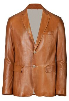 Brand New Men's Genuine soft Lambskin Leather Blazer Jacket TWO BUTTON Coat in Clothing, Shoes & Accessories, Men's Clothing, Coats & Jackets Mens Leather Blazer, Buy Leather Jacket, Custom Leather Jackets, Leather Jackets Online, Lambskin Leather Jacket, Leather Men, Real Leather, Brown Leather, Vintage Leather