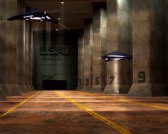 Underground hangar by Gravitoni.deviantart.com on @deviantART