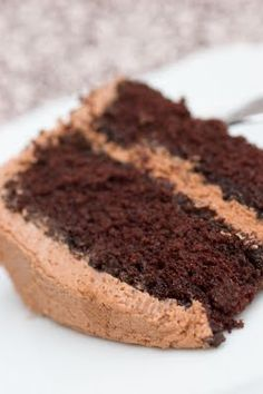 Dark Chocolate Coffee Cake with Nutella Buttercream Frosting Nutella Buttercream Frosting, Frosting Recipes, Cake Recipes, Dessert Recipes, Baking Recipes, Just Desserts, Delicious Desserts, Yummy Food, Desserts Nutella
