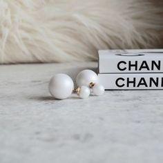 Jewelry - Double matte pearl earrings brand new