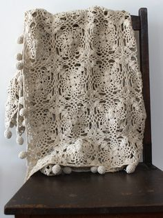 cotton/hemp crochet throw by echidna handmade