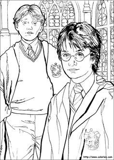 Coloriage à imprimer : Personnages célèbres - Harry Potter numéro 1642
