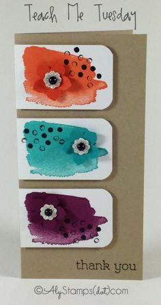Happy Watercolor Fun! by alystamps - Cards and Paper Crafts at Splitcoaststampers