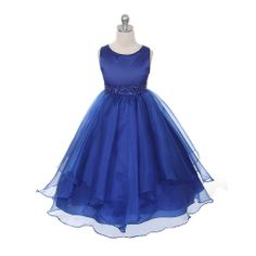 flower girl dresses with blue - Google Search