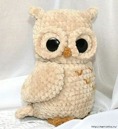 Ideas for crochet amigurumi owl pattern yarns Owl Crochet Patterns, Crochet Birds, Crochet Teddy, Owl Patterns, Baby Knitting Patterns, Crochet Animals, Crochet Yarn, Sewing Patterns, Sewing Ideas