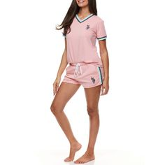 Get this U.S. Polo Assn. 2pc Short Sleeve Lounge Women's Pajama Set for only $14.99 (reg. $24.99) at Walmart. You save 40% off the retail price for this women's pajama set. Add extra for shipping. Deal may expire soon. Womens Pyjama Sets, Online Shopping Deals, Sleep Set, Pink Outfits, V Neck Tops, Pajama Set, Gym Shorts Womens, Short Sleeves, Polo