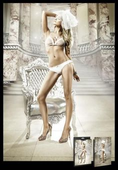 Lovely Bridal Lingerie Bra Set is elegant and sophisticated! Women One Size White Mesh Ruffle Dot Lace Panty Lingerie Bridal Bride #Baci #BraSets