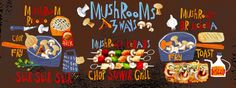 Mushrooms 3 ways<span class='title_artist'> by Kate Rochester</span>