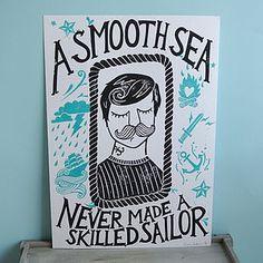 'A Smooth Sea…' Original Lino Print - view all sale items