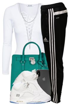 """3118"" by polyvoreitems5 ❤ liked on Polyvore featuring Michael Kors, Laut, adidas and Fremada"
