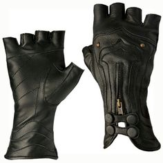Fingerless leather gloves are perfect for any archer. (Or Steampunk cosplay! Steampunk Gloves, Steampunk Accessoires, Mode Steampunk, Steampunk Fashion, Steampunk Clothing, Archery Gloves, Mode Vintage, Mode Inspiration, Mode Style