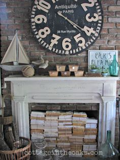 Cool ideas for the summer when fireplace not in use!
