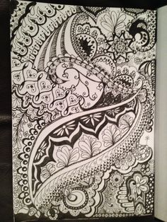 My first Zentangle Daughters, To My Daughter, Zentangles, Tapestry, Hands, Drawings, Home Decor, Hanging Tapestry, Tapestries