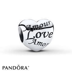 "Pandora charm Pandora charm ""language of love"" sterling silver. Authentic. New and never worn! Pandora Jewelry Bracelets"