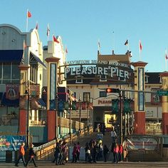 The Pleasure Pier on Galveston island is a fun place to spend a day! My kids love the giant roller coaster!