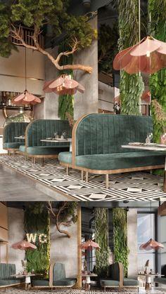 Coffee Shop Interior Design, Salon Interior Design, Coffee Shop Design, Bar Interior, Retail Interior, Restaurant Interior Design, Commercial Interior Design, Cafe Design, Industrial Restaurant Design