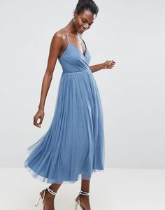 ASOS  Pinny Extreme Tulle Mesh Midi Dress