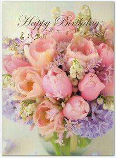 Happy Birthday Bouquet of Flowers! * Happy Birthday Bouquet of Flowers! Happy Birthday Flowers Wishes, Happy Birthday Bouquet, Flower Birthday Cards, Happy Birthday Celebration, Birthday Wishes Messages, Birthday Wishes And Images, Birthday Blessings, Happy Birthday Pictures, Happy Birthday Greetings
