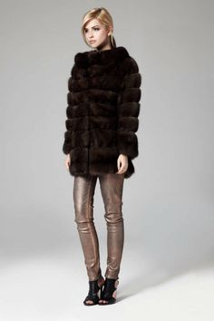 Lilly E Violetta Russian Sable Fur Coat