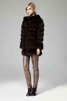 Lilly E Violetta Russian Sable Fur Coat