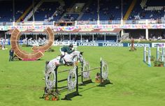 Cian O'Connor jumping in the Speed Stakes.  #horseware #dublinhorseshow #RDS