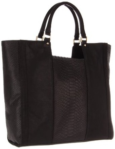 807dc243ec Pour La Victoire Women s Canillo Embossed Snake Blocked Tote