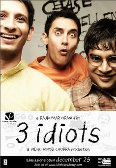 3 Idiots! I watched this movie again the other day and it is absolutely incredible. This movie has everything! Humor, love, life lessons, etc. This is definitely one of my favorite Bollywood movies