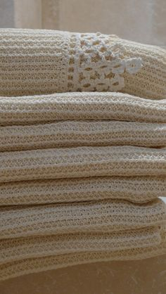 Fine luxury handmade hemp linen & lace new bath towels Ribisli