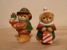 Enesco Lucy & Me 1986 Lucy Rigg Christmas Shopping Bears