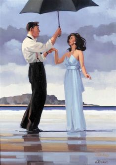 Jack Vettriano - THE PROPOSAL, oil on canvas on MutualArt.com