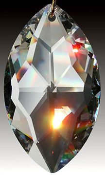 SWAROVSKI Matrix 8950-0021 32mm AB Crystal Prism Pendant Suncatcher