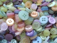 150 Mixed Soft Colours Small Shirt Buttons Pack of Mixed Buttons AM30d by berrynicecrafts on Etsy