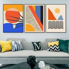 Geometric Abstract Scene Scandinavian Canvas Painting Wall Art Prints Poster Picture for Gallery Living Room Interior Home Decor - Modern Multicolored Abstract Geometric Wall Art Painting Picture Posters and Prints Gallery Kids Ki - Abstract Canvas Wall Art, Geometric Wall Art, Wall Canvas, Abstract Painting Modern, Long Painting, Modern Canvas Art, Canvas Poster, Abstract Portrait, Modern Artwork