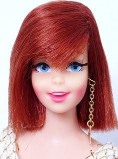 Barbielist Holland® 1967-2009 Francie Size Friends ©2009 [Photo: Twist 'n' Turn Redhead Casey® Doll 1180 ©1967]