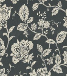 Home Decor Upholstery Fabrics-Waverly Cottage Vine Blackbird Fabric - possible dining room chair upholstery fabric?