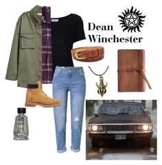 """""""Dean Winchester"""" by jarvo-tori ❤ liked on Polyvore featuring Frame, WithChic, FOSSIL, Patagonia, Timberland and SAM."""