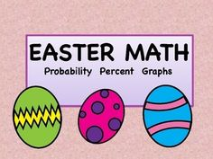 In this Easter themed activity, students must calculate percents from ratios, construct a bar graph and a circle graph, and write a paragraph comparing their data. Student record sheets are included. Answer key is included for the fractions and percents.