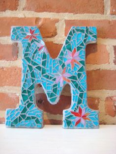 Custom Mosaic Letters by ModernTesserae on Etsy, $25.00