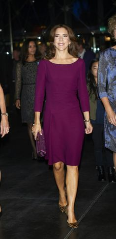 Princess Mary attended the event in honor of 200 years of compulsory education in Denmark, which was held in Copenhagen.