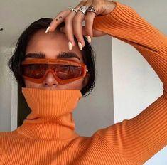 Streetwear Mode, Streetwear Fashion, Blazer Color Crema, Orange Aesthetic, Urban Aesthetic, Aesthetic Girl, Color Naranja, Foto Instagram, Ethical Fashion