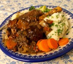 Jenny Eatwell's Rhubarb & Ginger: Stellar Slow Cooked Lamb Shanks Slow Cooked Lamb Shanks, Grandmothers Kitchen, Free Range, Eating Well, Pot Roast, Slow Cooker, Beef, Ethnic Recipes, Friday