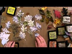 Art of Craft NZ - how I use TH tattered leaves dies, 2011, time 35:09 - cool ideas for using the leaves