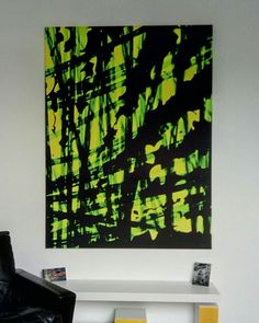 Greennight printed on canvas 150 x 110cm My view when i wake up, good morning