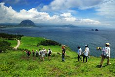 Jeju Olle Trail (제주올레길): As a newly-developed trekking course on the Jeju island, the Jeju Olle is made up of 22 courses covering a total of 347km in length. The beautiful isle's craggy coastline is lined with emerald bays and lapping beaches, while further inland hills are studded with oreums (dormant volcanoes), ensconced waterfalls and green prairies.